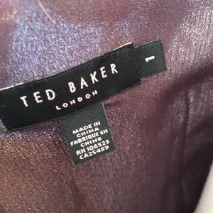 Ted Baker London Dresses - Ted Baker London Brown Chiffon Pleated Tie Dress
